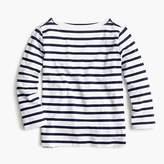 J.Crew Girls' striped boatneck T-shirt