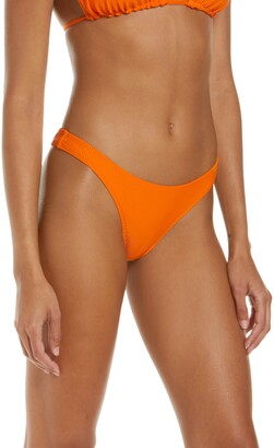 Frankie's Bikinis Cheeky Ribbed Bikini Bottoms
