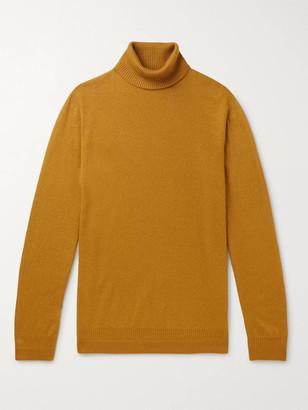 Loro Piana Melange Cashmere and Silk-Blend Rollneck Sweater - Men - Yellow