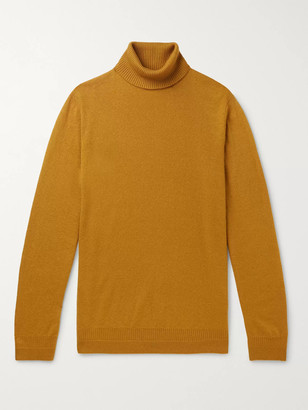 Loro Piana Melange Cashmere And Silk-Blend Rollneck Sweater