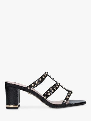 Carvela Salsa Studded Block Heel Sandal