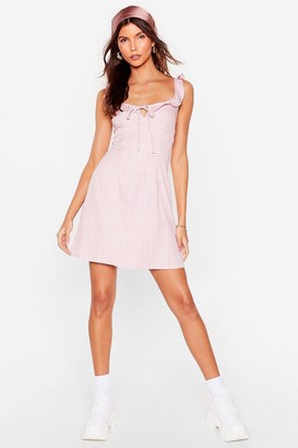 Nasty Gal Womens Picnic By the Sea Gingham Mini Dress - Pink