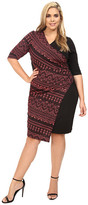 Kiyonna Chic Cinch Faux Wrap Dress
