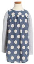Tucker + Tate Toddler Girl's Big Dot Woven Dress