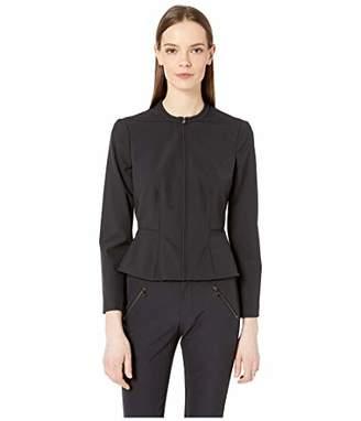 Rebecca Taylor Women's Zip Front Jacket with Peplum Hem