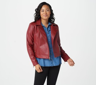 Rachel Hollis Ltd. Faux Leather Moto Jacket