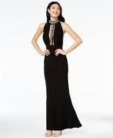 Trixxi Juniors' Cutout-Bodice Halter Gown