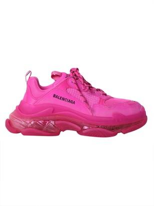 Balenciaga Multicolored Triple S Clear Sole Sneakers Pink