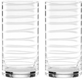 Kate Spade Set Of 2 Etched Highball Glasses
