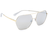 Dolce & Gabbana Mirrored Aviator Sunglasses