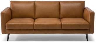 Natuzzi Editions Bergamo 3 seat Leather Sofa withTrack arm