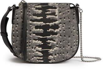 AllSaints Small Ely Snakeskin Embossed Leather Crossbody Bag