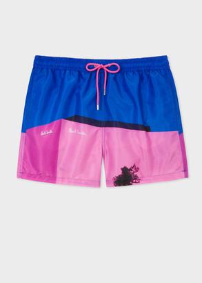 Paul Smith Men's 'LA Shop' Print Swim Shorts