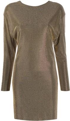 Versace Crystal Embellished Dress
