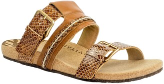 Revitalign Slip-On Leather Sandals - Sofia