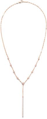 Lana Disc Chime 14k Rose Gold Diamond Lariat