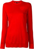 Proenza Schouler cut out heart jumper - women - Silk/Cotton/Polyester/Viscose - XS