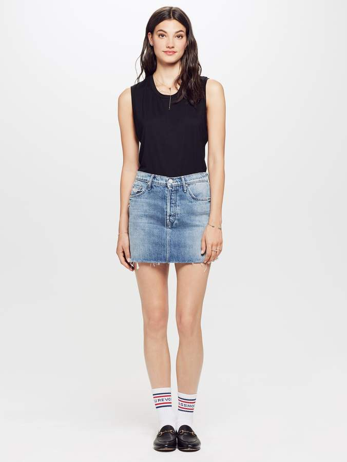 Mother The Vagabond Mini Fray Skirt - Lightning Strikes