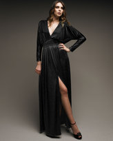 Halston Heritage Jersey Deep-V Dress