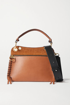 See by Chloe Tilda Whipstitched Leather And Suede Shoulder Bag - Brown