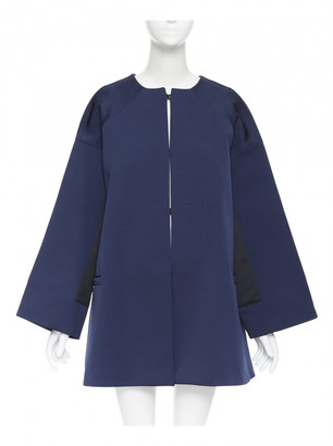 Balenciaga Navy Leather Coats