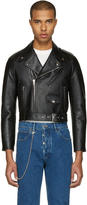 Balenciaga Black Shrunken Leather Jacket