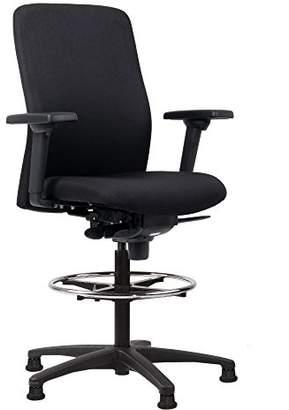 Camilla And Marc Euroseats Vigo, Professional, Multifunctional, Ergonomic, Drafting Chair, Fabric, Fabric Black, 43x50x110 cm