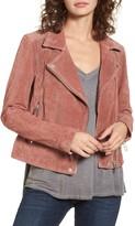 Blank NYC Blanknyc Denim Suede Moto Jacket