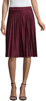 Liz Claiborne Faux Suede Pleated Skirt