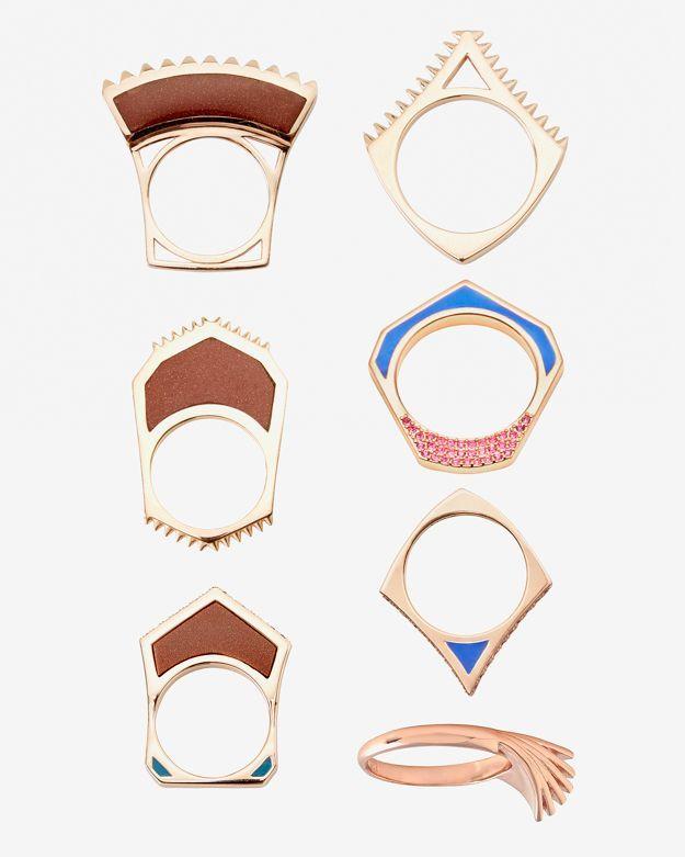 Eddie Borgo Tuareg Ring Set of 7