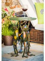 Bloomsbury Market Fabron 3 Frogs Standing Side Table