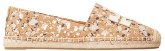 Tory Burch Ines Paint-Splatter Canvas Espadrilles