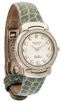Rolex Cellini Cellissima Watch w/ Crocodile Strap