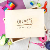 Dust and Things Engraved Children's Art And Craft Box Personalised