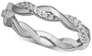 Giani Bernini Cubic Zirconia Twisted Band in Sterling Silver, Created for Macy's