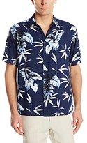 Cubavera Men's Short Sleeve Tropical Print Woven Shirt