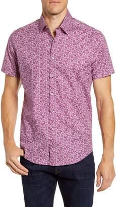 Stone Rose Regular Fit Short Sleeve Button-Up Shirt