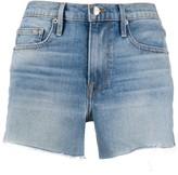 Frame frayed hem denim shorts