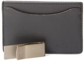 Jack Spade Leather Card Holder & Money Clip
