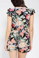 Urban Outfitters Reverse Deep-V Floral Romper