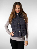 Fur Hood Puffy Vest with in E.M.I