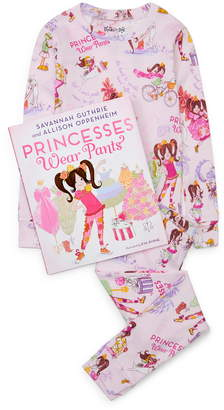 Books to Bed Princesses Wear Pants Fitted Two-Piece Pajamas & Book Set