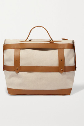 Paravel Weekender Leather-trimmed Cotton-canvas Weekend Bag - Tan