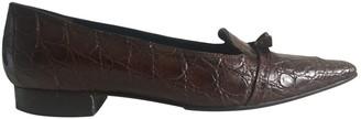 Fratelli Rossetti Brown Crocodile Ballet flats