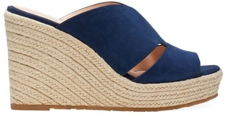 Kate Spade Tropez Suede Espadrille Wedge Mules
