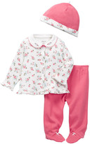 Little Me Camellia Roses Take Me Home Set (Baby Girls)