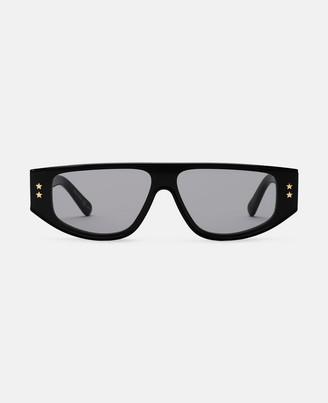 Stella McCartney black square sunglasses