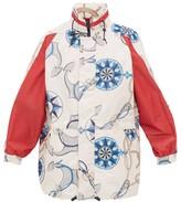 Gucci Nautical-print Technical Jacket - Mens - White Multi