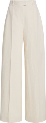 Martin Grant Wide-Leg Cotton-Blend Trousers