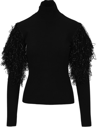 J.W.Anderson Fringed Sleeve Turtleneck Jumper
